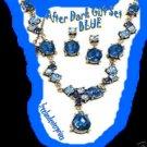 Necklace & Earring Gift Set After Dark Gift Set BLUE NEW Burnished Brass