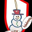Nail Emery Board Files Christmas Gift Tag Snowman ~NIP~