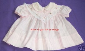 Girls Pink Dress With Lace (Size 6 mos) EX-Condtion