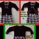 Girls Youngland® Mock-Layer Plaid & Velvet Dress 18 mos