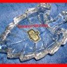 Crystal Leaf Trinket Dish 24% Lead - Made in Yugoslavia