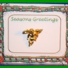 Christmas PIN #156 Angel Goldtone Tac Pin or Lapel VGC