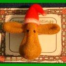 Christmas PIN #111 Moose Tac Pin (Fuzzy) Unique/cute