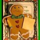 Christmas PIN #110 School Time Gingerbread Man with Pencil & Paper