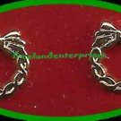 Christmas Earrings Wreath Pierced Goldtone with surgical posts