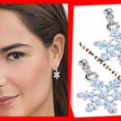 Christmas Earrings Snowflake Wire Dangle ~ NEW Boxed ~XMAS