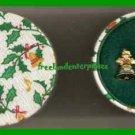 Christmas Earrings Jingle Bells Goldtone w/Round Box NOS