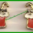 Christmas Earrings Festive Accents Santas Stocking Pierced