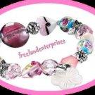 Bracelet Beaded Chic Bracelet FLORAL PINK Charmed Beads
