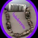 Bracelet Beaded 116 Stretchie Pink/Purple SilvertoneNEW
