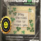 CRAFTS Cross Stitch Dimensions Lucky Irish Blessing Kit