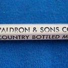 VTG PENCIL B. R. Waldron & Sons Co. Inc, Califon, NJ Country Bottled Milk USED