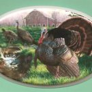 Ceramic Tile Wild Turkey Spring Scene Hot plate, or craft project