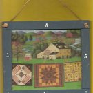 """Picture Folk Art Country Farm Picture By Charles Wysocki Size 7 6/16"""" X 6 1/2"""""""