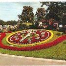 Post Card Europe France..Geneve..L'Horloge Fleurie ~Clock Flower Garden VTG 1967