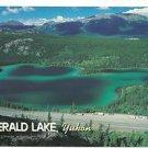 Post Card Canada Emerald Lake, Yukon, Canada ~Water is Brilliant color Emerald