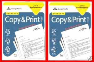 Copy Printer Paper 2 Reams @500 ct =1000 Ct NEW 8.5 X11 Georgia Pacific