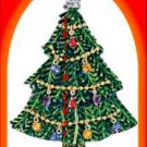 Christmas PIN Avon Collectible Tree Goldtone Collectble Dangling Ornaments 2008