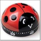Timer Ladybug 60 Minute Kitchen Timer (Red, Black & White) Circa 2011