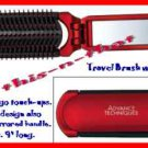 Hair Advance Techniques Travel Brush with Mirror (Approximately 9 inches) ~Red~