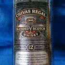 """Collectible Chivas Regal Blended Scotch Whisky Round Tin """"Whiskey"""" Age 12 Years"""""""
