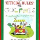 Book The Official Rules for Golfers By Paul Dickson 1999 B&N