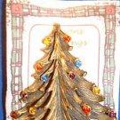 Christmas PIN #0448 Torino Vintage Brass Colored Christmas Tree Pin