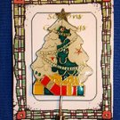 Christmas PIN #0428 Green Christmas Tree Stick Pin ~Gold Star-Ornaments & Gifts~