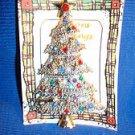Christmas PIN #0386 Vintage Silvertone, Goldtone & Rhinestone Christmas Tree Pin