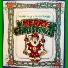 Christmas PIN #0300 VTG Merry Christmas Santa Claus on Swing Goldtone Brooch VGC