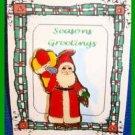 Christmas PIN #0284 Schmid 1984 Gordon Fraser Santa Goldtone Balloons & Rabbit