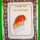 Christmas PIN #0269 Red Santa Hat 1997 Enamel Tac Pin HOLIDAY
