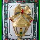 Christmas PIN #0239 Gerrys Vintage Lantern Candle Goldtone - HOLIDAY Brooch
