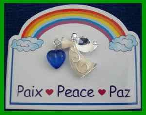 Christmas PIN #0184 Inspirational Angel Pin PEACE Silvertone Tac Pin HOLIDAY