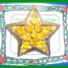 Christmas PIN #0177 Star Yellow/Gold Rhinestones/Crystals Goldtone Pin 1.5 inch