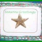 Christmas PIN #0175 Star Goldtone Tac Pin (3/4 inch)