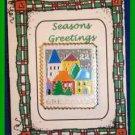 Christmas PIN #0055 Greetings Stamp Village Scene 1986-22 Cent Enamel ~Goldtone~