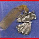 Christmas Ornament Pewter ANGEL Gloria Duchin with Swarovski Crystal