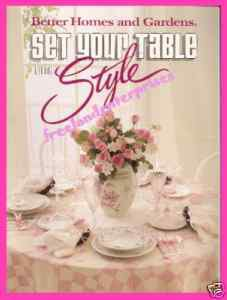 Book Better Homes & Gardens Set Your Table With Style Booklet 1989 X-Cond