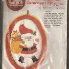CRAFTS Christmas Santa w/ Presents Ornament Kit Columbia-Minerva 7267 NOS C-1980