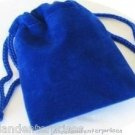 Jewelry Pouch Velour/Velvet type Pouch Lot of 5 Blue Color