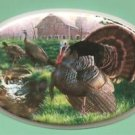 Ceramic Tile Wild Turkey Spring Scene Hot plate, or craft project or Frame ~NEW