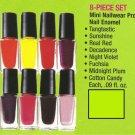 Nail Enamel Assorted Colors ~ Nailwear Pro Mini 8-Piece Set .09 fl.oz.