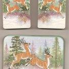 Collectible Play Cards Wildlife Deer & Tin with 2 Decks Cards Sealed J.S.N.Y.NIP