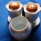 VTG Noritake Salt & Pepper & Mustard Condiment Set with Tray ~4 Pieces~Japan