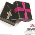 """Necklace Beautiful Sparkle Cross Pendant 16 1/2"""" ~Goldtone~ NEW in Gift Box"""