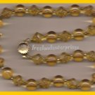 Necklace #125 Beads Yellow Plastic and Goldtone VINTAGE