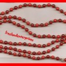 Necklace #123 Beads Two Colors Red and Goldtone VTG