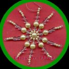 Christmas Ornament Holiday Snowflake Beaded Ornaments ~ NEW ~ 5 inch