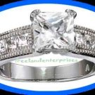 Ring Princess Cut Square CZ Ring Size 8 STERLING SILVER